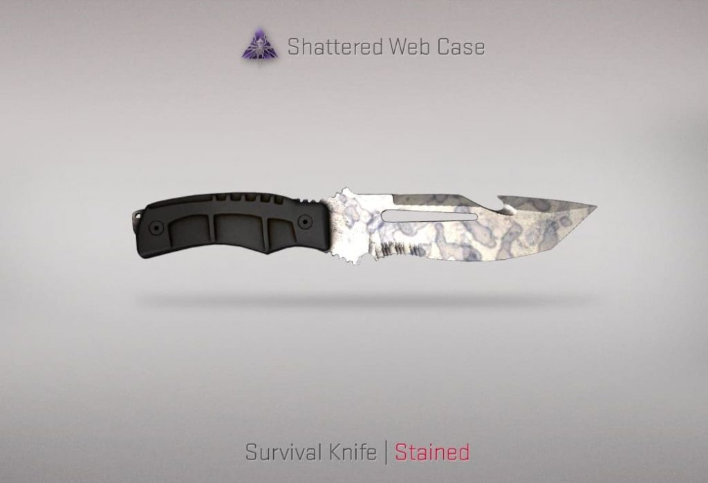 Новый нож ксго Survival Knife Stained