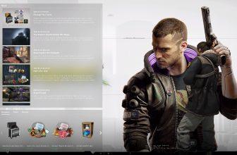 cyberpunk 2077 panorama UI man