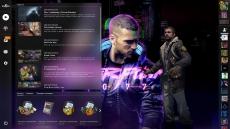 Фон Cyberpunk 2077 с главным героем – для Panorama UI