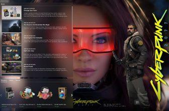 Фон Cyberpunk 2077 женщина в красных очках – для Panorama UI
